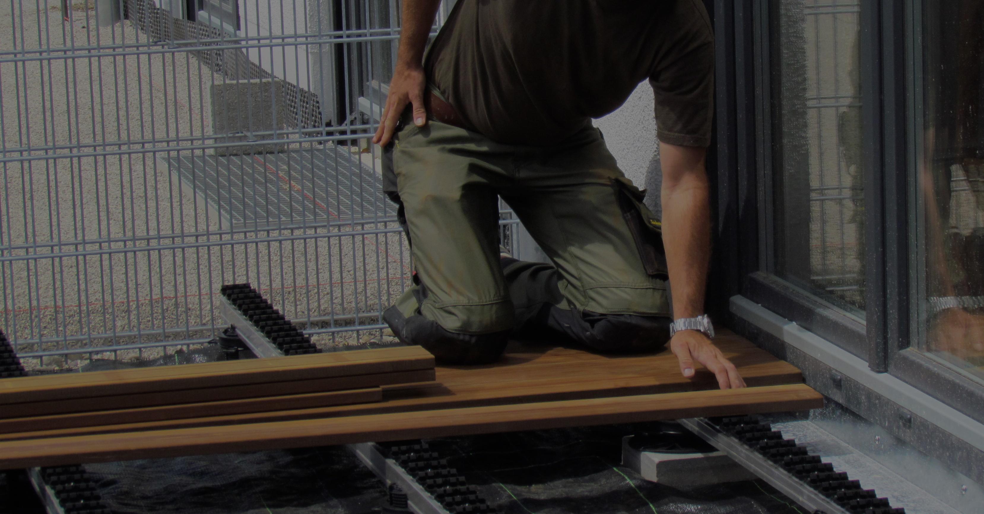 Holzterrassen in München, Dachau und Augsburg